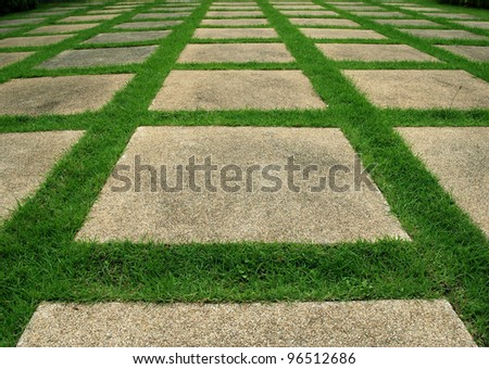 Way ground background green grass texture pattern design tile
