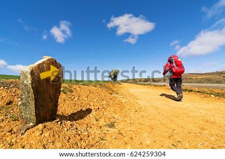 Shutterstock Way of St James , Camino de Santiago , Compostela , arriving at Astorga ,Spain