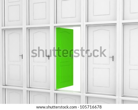 Way to success. Different door