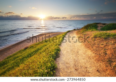 Way to the sea. Nature relax composition. #273964850