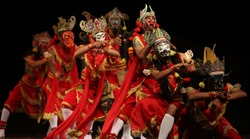 Wayang Topeng Jawa Timur,  a traditional dance from East java Indonesia