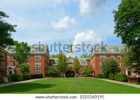 Wayland Hall in Brown University, Providence, Rhode Island, USA