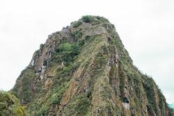 Wayna Picchu, Huayna Picchu, Sacred Mountain of the Incas in Machu Picchu, Cusco Peru