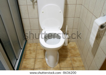 wc in bathroom