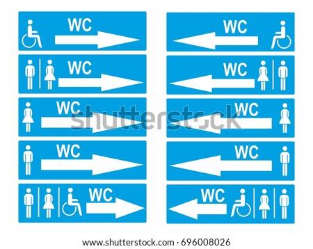 WC toilet icon sign symbol