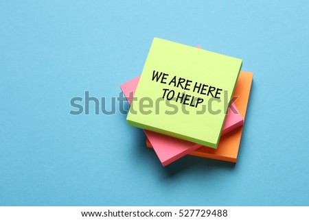 We are here to help, Business Concept #527729488
