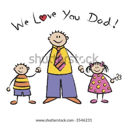 WE LOVE YOU DAD light skin tone