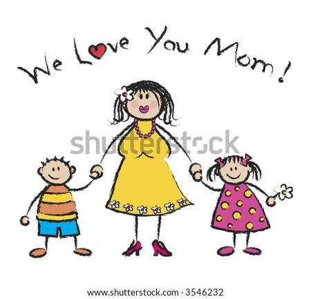 WE LOVE YOU MOM light skin tone