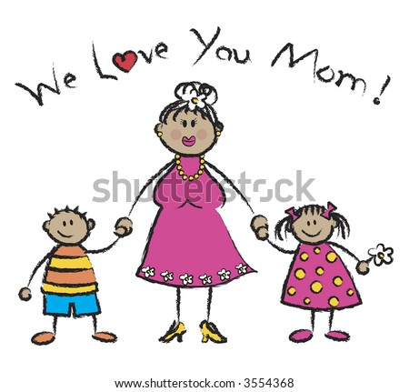 love you mommy. stock photo : WE LOVE YOU MOM