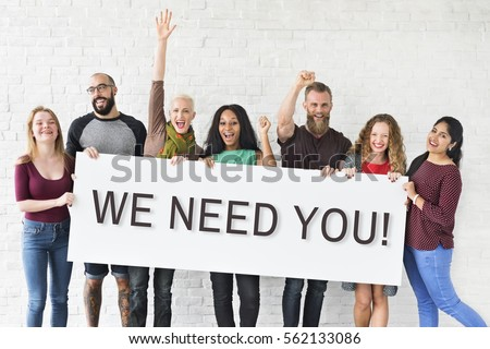 We Need You Message Concept #562133086