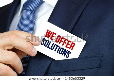 WE OFFER SOLUTIONS - Business advertising