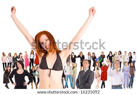 "we rock! -  of  ""Groups of people"" multiple series in studio's portfolio"