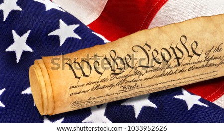 We the People with American flag.