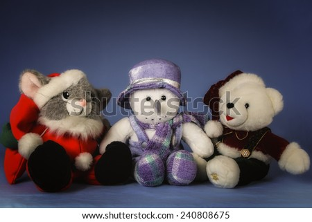 We Three Kings.  A Mouse, Bear and Snowman Stuffed Toys
