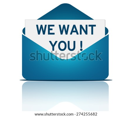 WE WANT YOU - letter