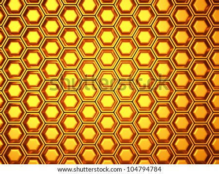 Wealth: gold background with cells or combs. Large resolution