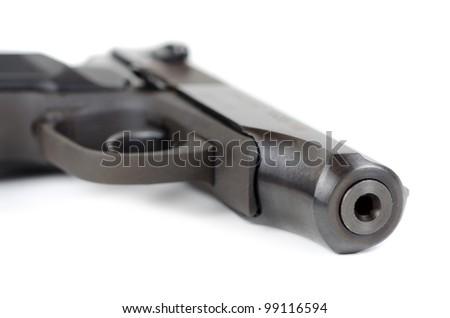 Weapon - Gun closeup on white background
