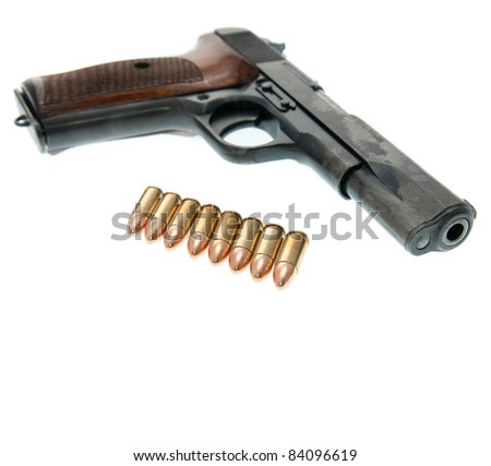 Weapon - Gun isolated on white background