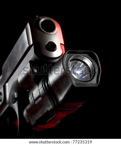 weaponlight that is mounted on a semi-automatic handgun