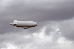 Weather blimp in southwestern United States