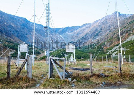 Weather forecast station in the middle of the mountains in a European country #1311694409