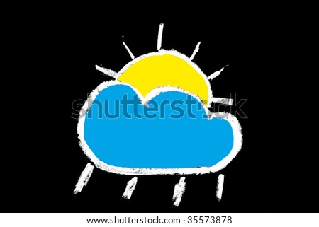 Weather Forecast Drawings Weather Forecast Symbol on a