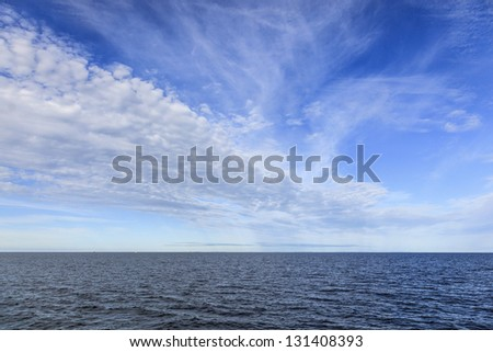 Weather Front over the sea