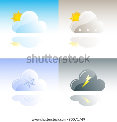 Weather Icons Collection - Bitmap Illustration