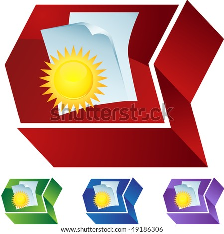 Weather Record Document - stock photo