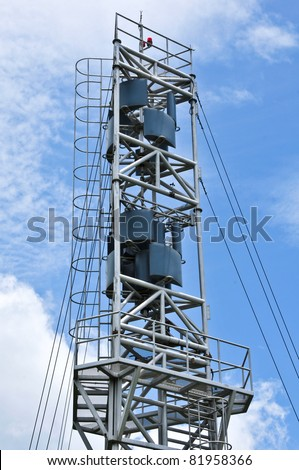 Weather station on blue sky in Thailand