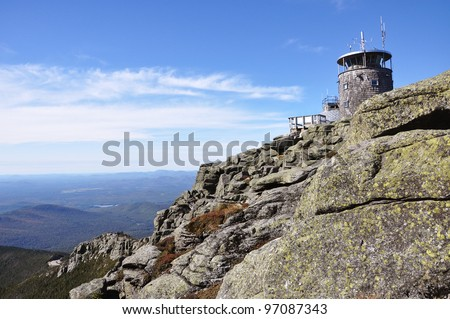 Weather Station on top of Whiteface Mountain, Adirondack Mountains, New York State, USA