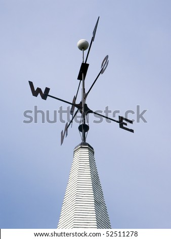 Weather Vane atop a Church Steeple