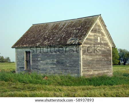 weathered abandoned buildings farm house