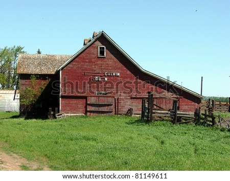 weathered abandoned farm buildings barn