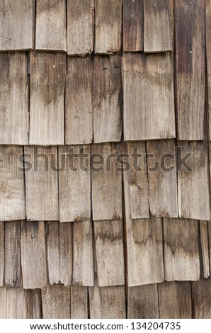Weathered cedar shake shingles for use as a background