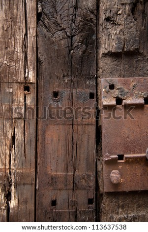 weathered color used wooden wall