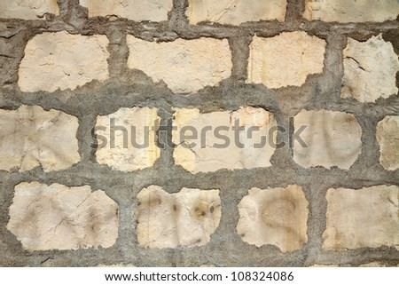 Weathered old stucco wall