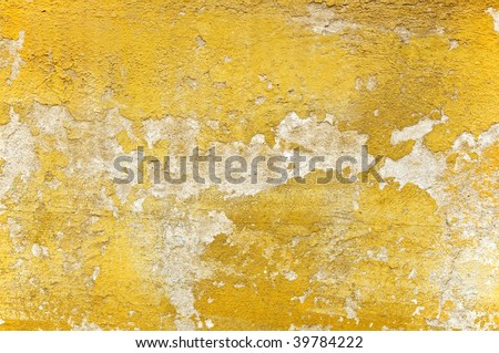 Weathered old stucco wall in Florence - closeup background, texture