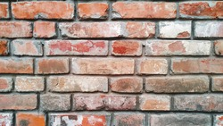 Weathered Shabby Painted Old Brick Wall Background Space Your Text