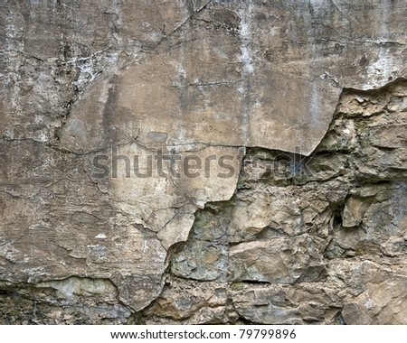 weathered stone and concrete wall background