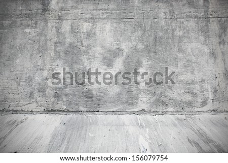 Weathered surface of wall in the industrial interior of the street
