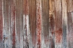 Weathered wooden exterior wall