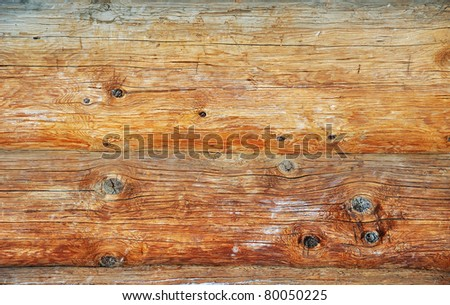 Weathered wooden logs with natural pattern vintage background