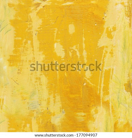 weathered yellow wooden background