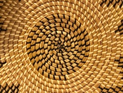 Weave circles pattern texture, traditional weave background