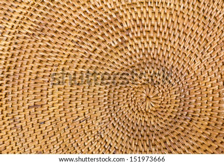 Weave pattern  rattan background.Woven rattan with natural patterns are made �¢??�¢??by handmade