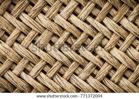 Weave texture or weave pattern background in macro view. Weaves patten classic retro background for design.