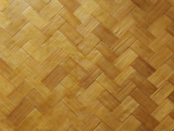 Weave wood to make a room wall or background.