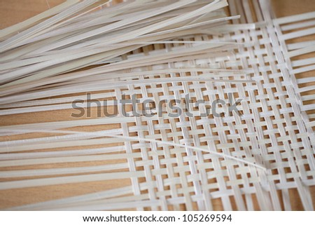 Weaving bamboo to be used.