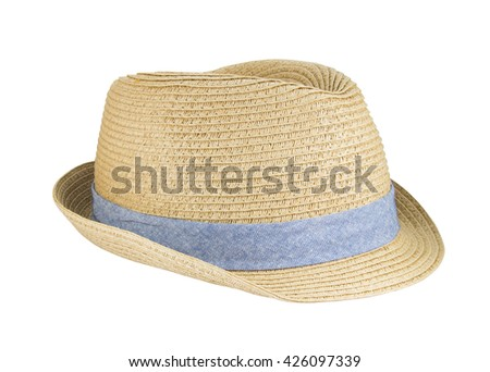 151b18e4 Weaving hat with clipping path isolated on white background. #426097339